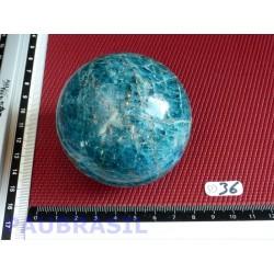 Sphère Apatite Bleue Brésil Q Extra 480gr 66mm diamètre .