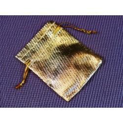 Pochette Tissu doré 5x7cm