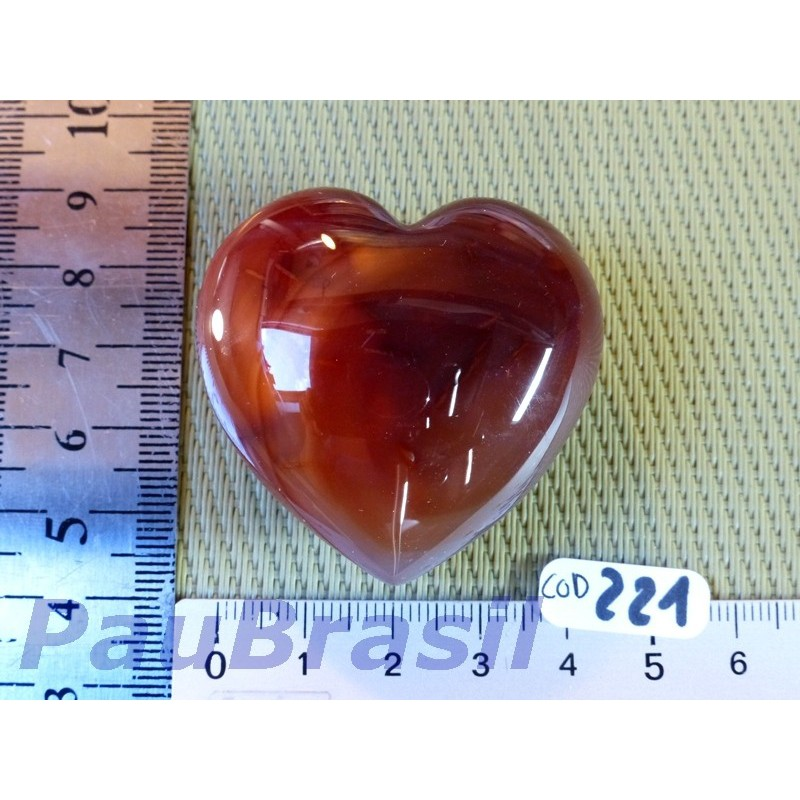 Coeur en Cornaline naturelle Q Extra 65g Madagascar .