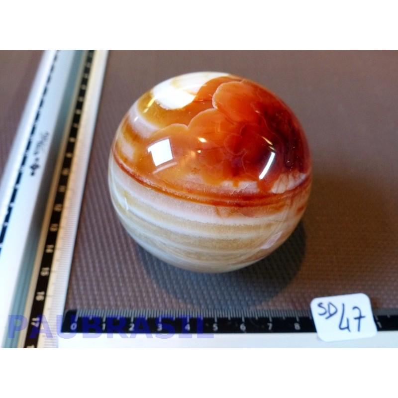 Sphère Agate rubanée 415g 67mm diamètre .