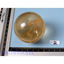 Sphère en Calcite Optique Miel 252g 56mm diametre .