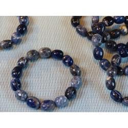 Bracelet SODALITE ou ACKMANITE en pierre roulées XL