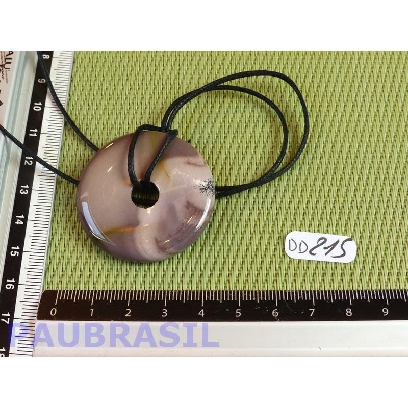 Pi Donut pendentif en Jaspe Mokaïte de 4 cm .