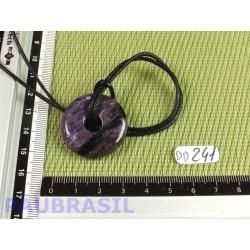 Pi donut pendentif en Charoïte de Russie Q Extra de 3 cm .