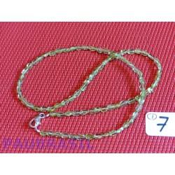 Collier en perles aplaties 6mm environ en Péridot Q Extra 44cm environ