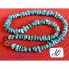 Collier Turquoise de Chine roulée 44 cm Q Extra ++ .