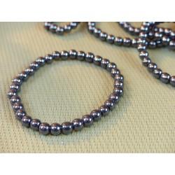 Bracelet élastique Hématite perles de 4mm.