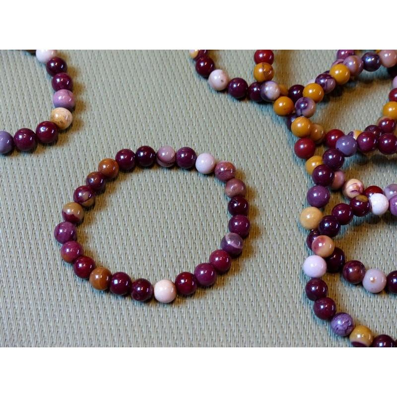 Bracelet Jaspe Mokaïte perles de 8mm