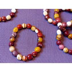 Bracelet Jaspe Mokaïte pierres roulées