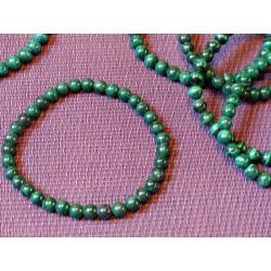 Bracelet MALACHITE qualité Extra en perles de 6mm