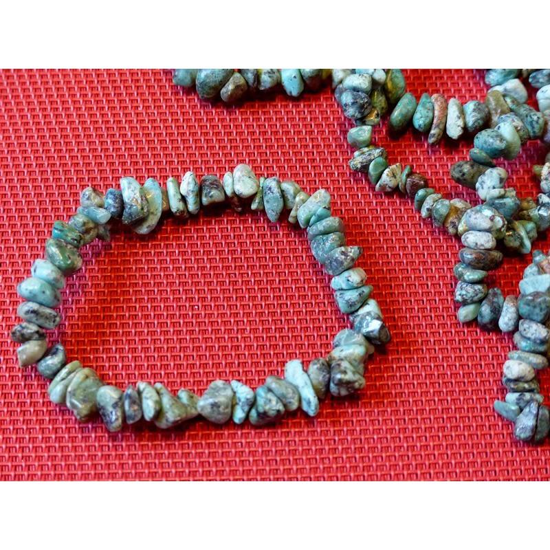 Bracelet baroque en Turquoise d'Afrique stabilisée