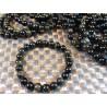 Bracelet Obsidienne à reflets or en perles de 8mm