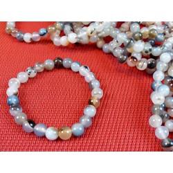 Bracelet AGATE NATURELLE en perles de 8mm