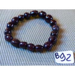 Bracelet Grenat rouge en pierres roulées