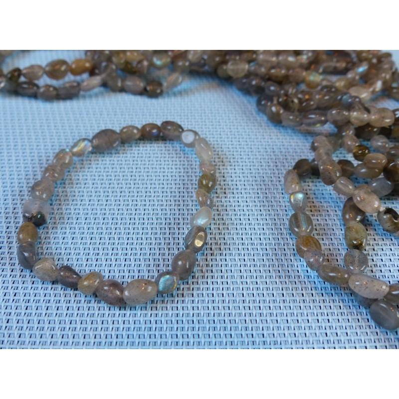 Bracelet LABRADORITE en mini pierres roulées Q Extra