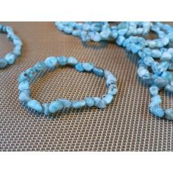 Bracelet Larimar - Pectolite bleue en mini pierres roulées Q Extra