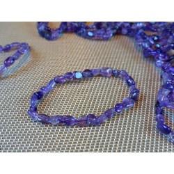 Bracelet Améthyste en mini pierres roulées Q Extra