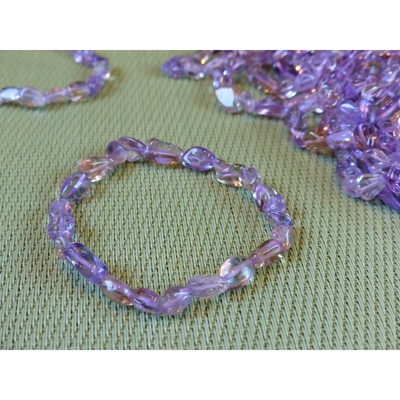 Bracelet AMETRINE  en mini pierres roulées Q Extra