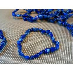 Bracelet Lapis Lazuli en mini pierres roulées Q Extra