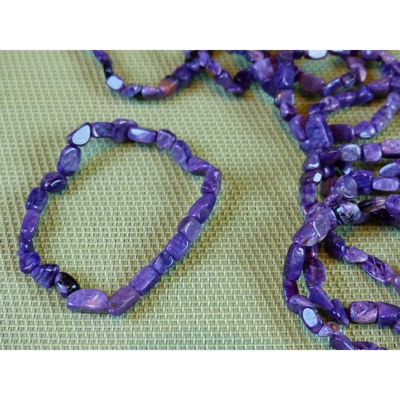 Bracelet CHAROITE de Russie en mini pierres roulées Q Extra