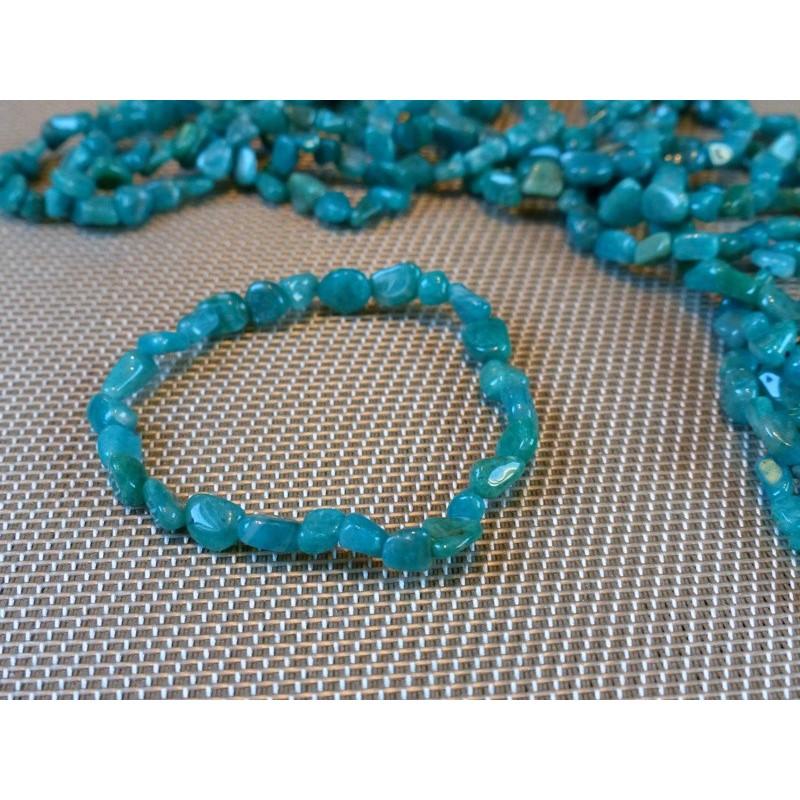 Bracelet AMAZONITE de Russie en mini pierres roulées Q Extra