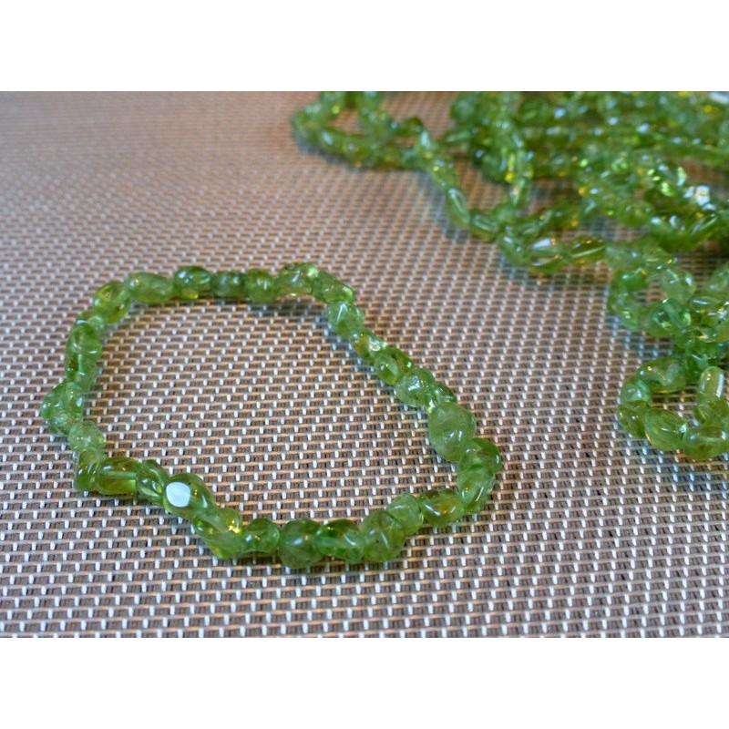 Bracelet PERIDOT en mini pierres roulées Q Extra