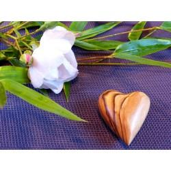 Coeur en BOIS d OLIVIER  de Bethléem 5cm 25gr
