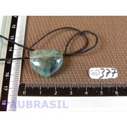 Pendentif Coeur Fluorite Multicolore 8gr