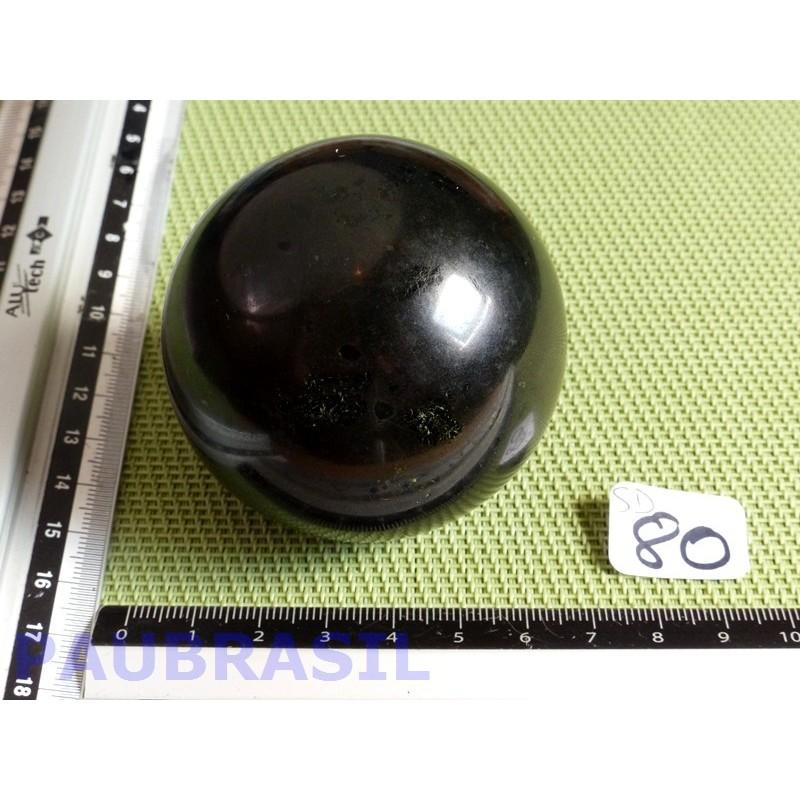 Sphère en Tourmaline Noire Inde 340gr 61mm diamètre qualité moyenne