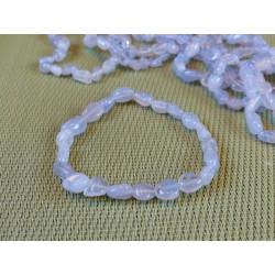 Bracelet Calcédoine Bleue en mini pierres roulées Q Extra