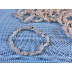 Bracelet Pierre de Lune Adulaire en mini pierres roulées Q Extra