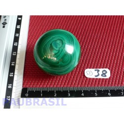 Sphère en Malachite Q Extra 82gr 34mm diametre