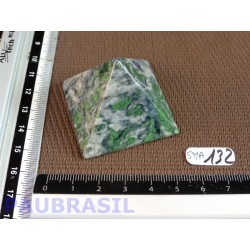 Pyramide en Smaragdite du Cap Corse 42x41mm base 64gr