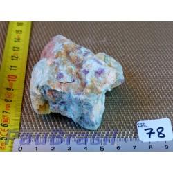 Rubis sur Fuchsite en pierre brute 192g