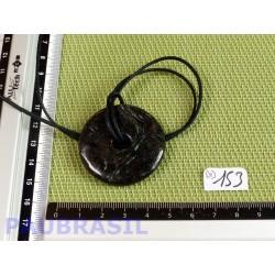 Pi donut pendentif Anthophyllite 4cm