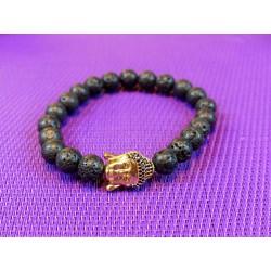 Bracelet Buddha PIERRE DE LAVE en perles de 8mm