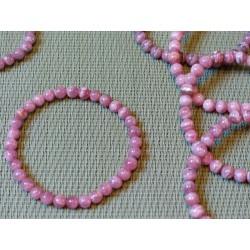 Bracelet Rhodocrosite d'Argentine Q Extra en perles de 6mm