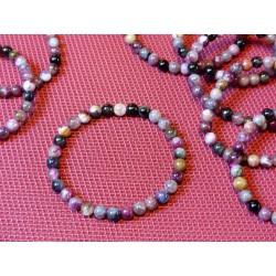 Bracelet  Tourmaline multicolore Q Extra en perles de 6mm