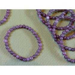 Bracelet Lépidolite Q Extra en perles de 6mm
