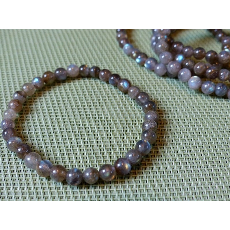 Bracelet Labradorite en perles de 6mm