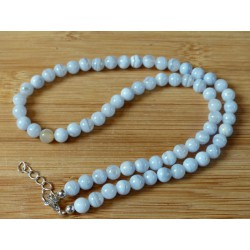 Collier Angelite 42cm en perles de 6mm