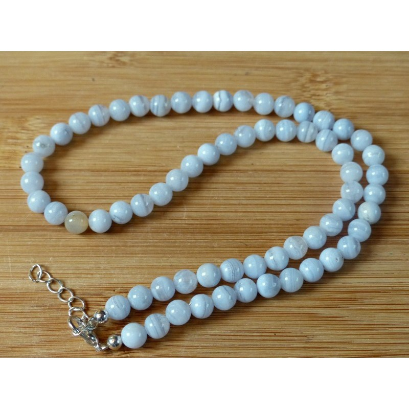 Collier Angelite 42cm en perles de 6mm