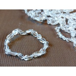 Bracelet Cristal de Roche en mini pierres roulées Q Extra
