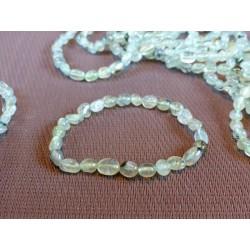Bracelet Prehnite épidote en mini pierres roulées Q Extra