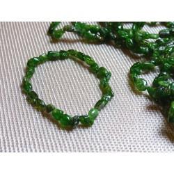 Bracelet Diopside Chromifère en mini pierres roulées Q Extra