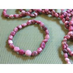 Bracelet Rhodonite en mini pierres roulées Q Extra