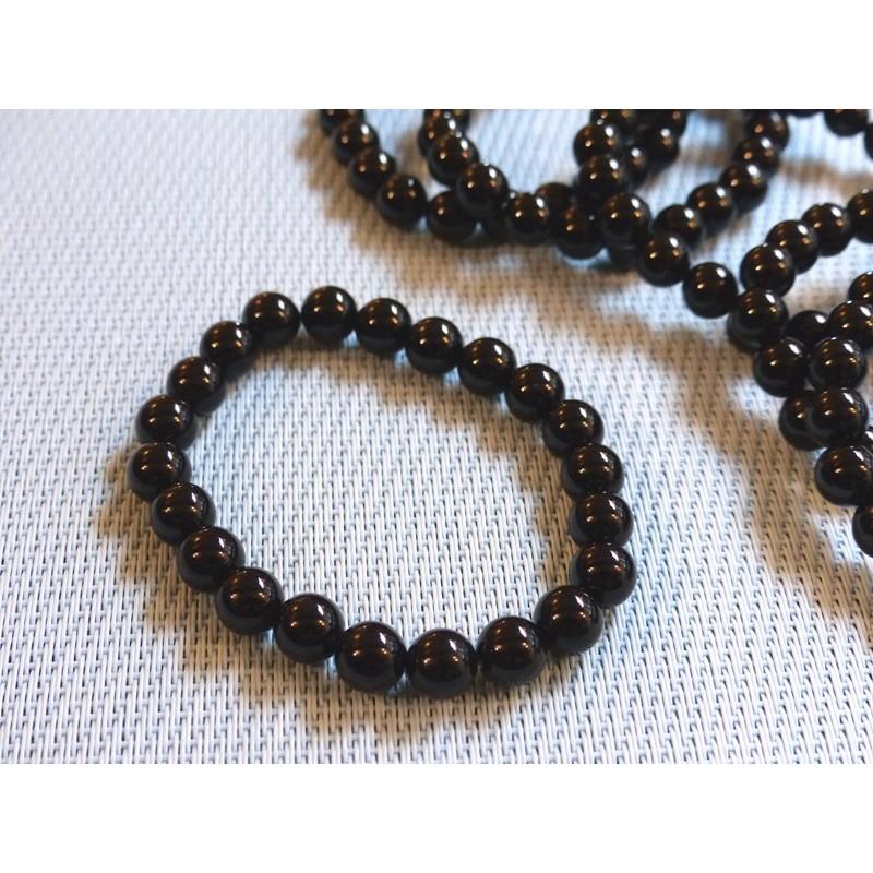 Bracelet ONYX NOIR en perles de 8mm