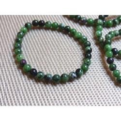 Bracelet RUBIS ZOISITE en perles de 6mm