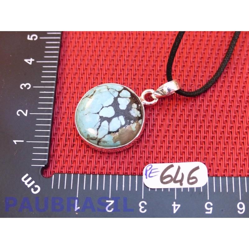 Pendentif Turquoise Arizona Cabochon Q Extra 7gr monture argent 925