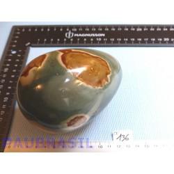 Oeuf en Jaspe Polychrome 1100gr 85mm diamètre 120mm long